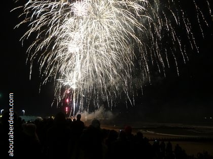 Aberdeen Bonfire Firework Night Display at Beach