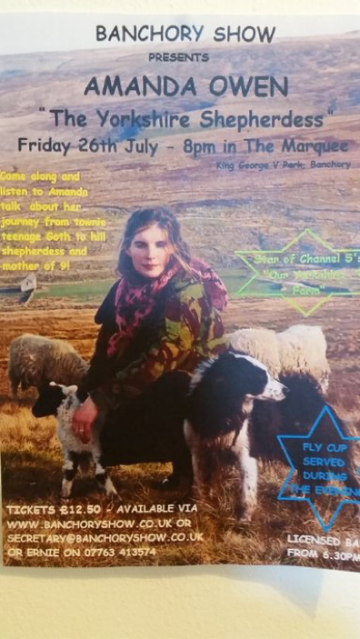 Amanda Owen Yorkshire Farm Shepherdess Banchory Show Talk