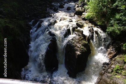 Black Linn Waterfall rapids dunkeld perthshire scotland