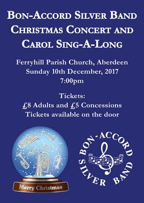 Bon Accord Silver Band Christmas Concert Carol Singalong