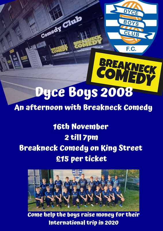 Breakneck Comedy Afternoon Aberdeen