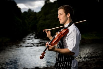 Chef Playing Fiddle By River Dee