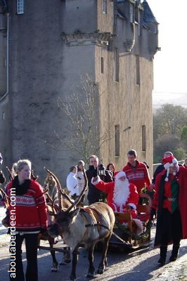 Christmas Reindeer Parade Crathes Castle Banchory Aberdeenshire