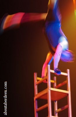 Circus Performer Balancing On Chair
