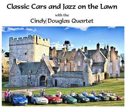 Classic Cars and Jazz on the Lawn MG Owners Club Drum Castle