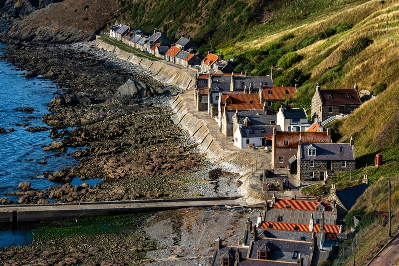 Crovie village Aberdeenshire Scotland