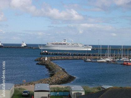 Cruise Liner Peterhead Harbour