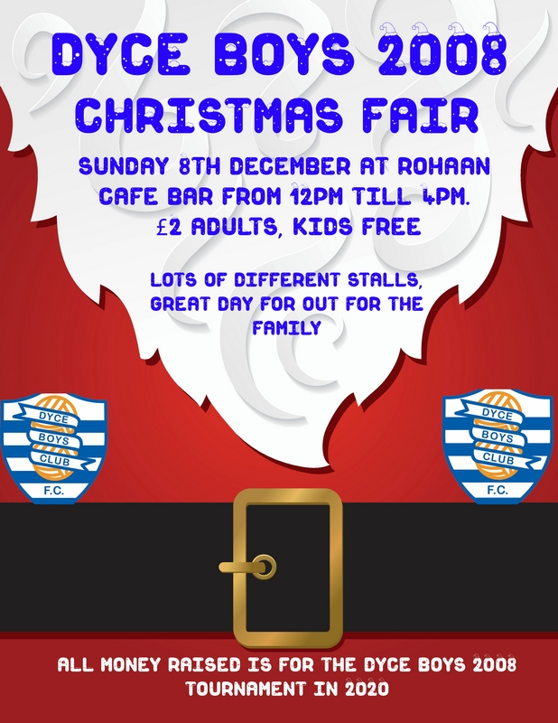 Dyce Boys 2008 Christmas Fair Rohaan Café bar Dyce