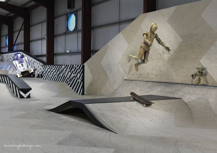 Extreme Sports Centre Aberdeen Star Wars Droids CP30 R2D2 BB8