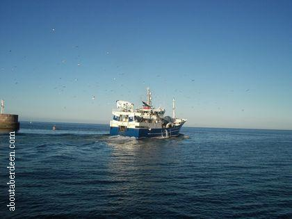 Fishing Boat Leaving Peterhead