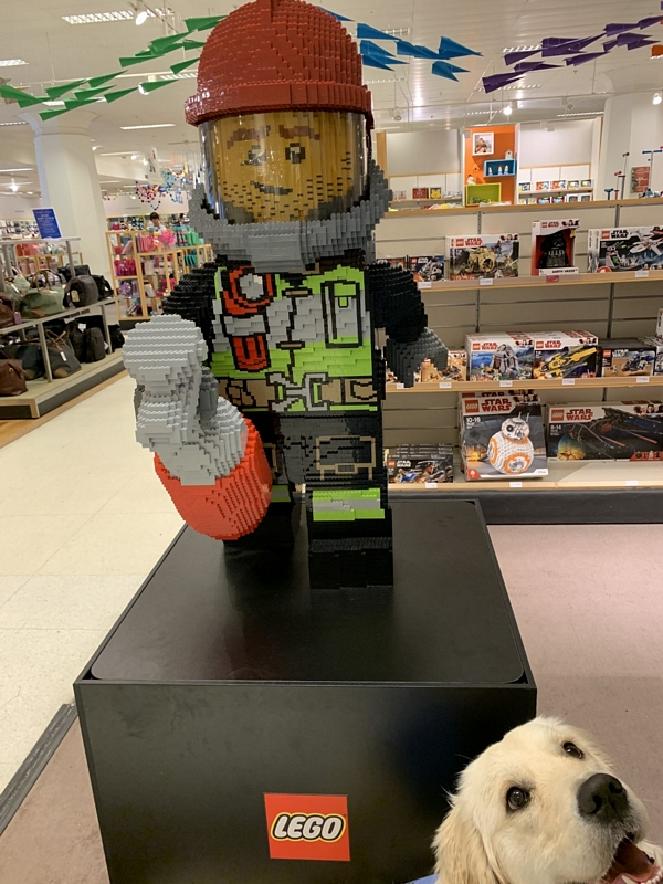 Giant Lego Firefighter Figure