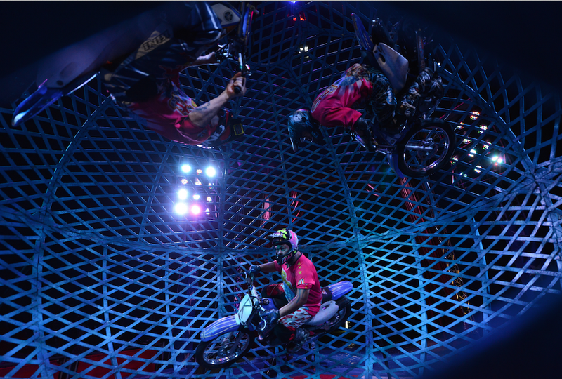 Globe of Death circus stunts show