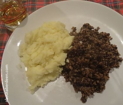 Haggis Tatties Glass Whisky