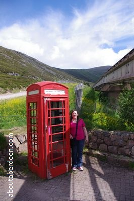 Highest Red Telephone Box Scotland Cairngorm Mountains