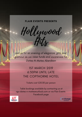 Flair Events Hollywood Hits Aberdeen Event