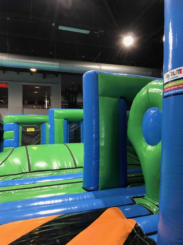Inflatable Bouncy Assault Course Theme Park Innoflate Aberdeen Beach