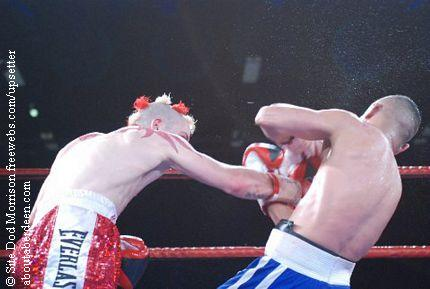 Lee McCallister and Mihaita Mutu Boxing Fight