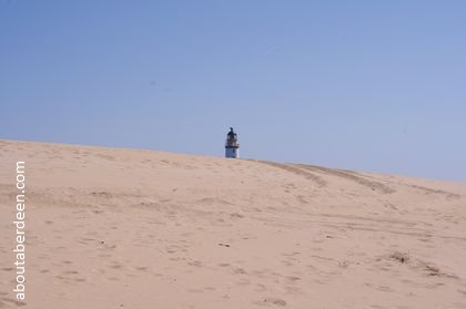 Lighthouse over sand dunes