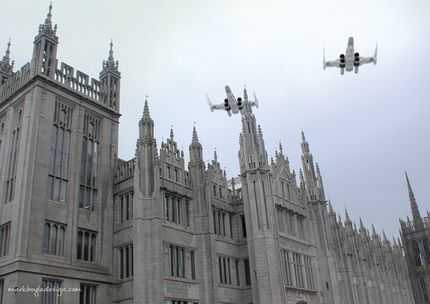 Marischal College Aberdeen Council Star Wars X-Wings