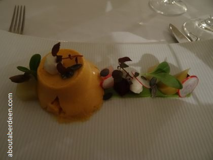 Roasted pumpkin mousse beetroot mozzarella winter salad
