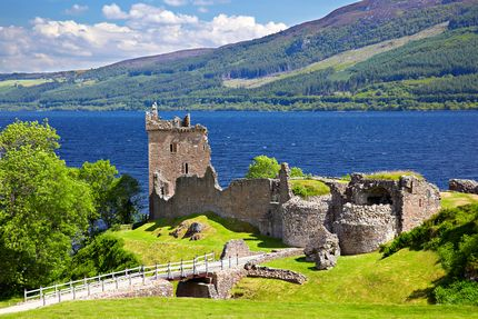 Urquhart Castle banks Loch Ness monster Nessie