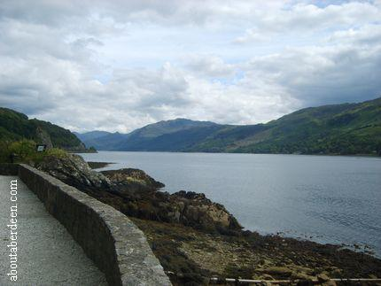 View From Eilean Donan Castle To The Highlands
