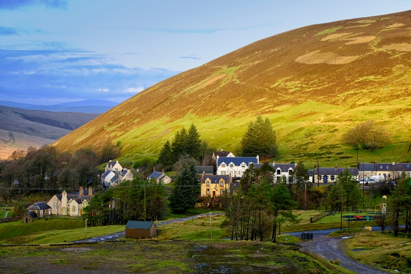 Wanlockhead village Scotland Leadhills