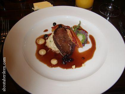 Wood Pigeon and Blackberry Sauce