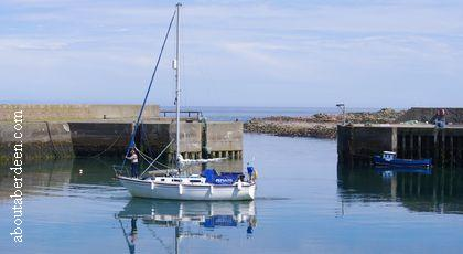 Yacht Boddam Harbour