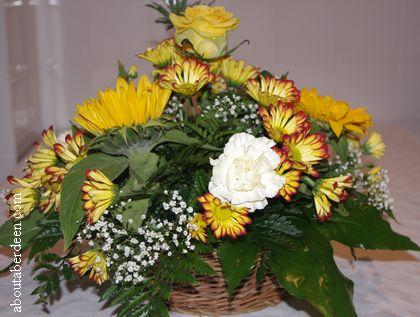 Yellow White Bouquet Flowers