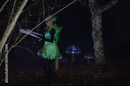 fairy juggling in dark forest
