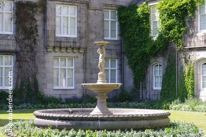 fountain in front balmoral castle