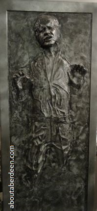 frozen carbonite Han Solo replica