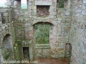Inside Tolquhon Castle
