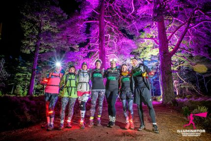 night time runners forest head torches