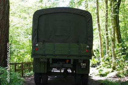 rear of United States of America army truck