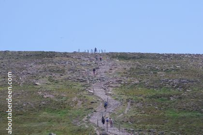 summit top cairngorm mountain hikers
