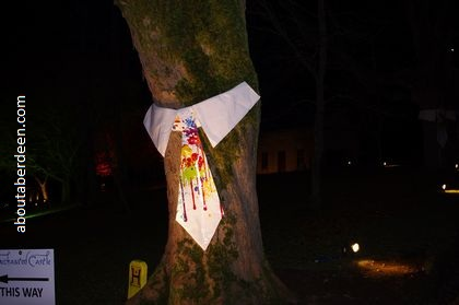 tie on a tree