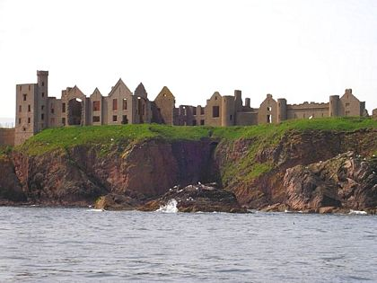 view slains castle cruden bay from sea